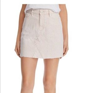 Paige Aideen Skirt in Blossom Pink Stripe